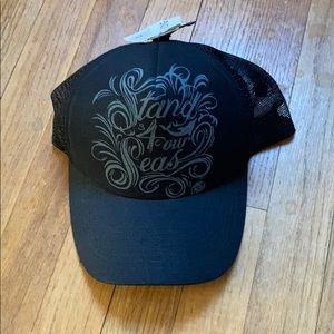 NWT Billabong Black Snap Back Hat